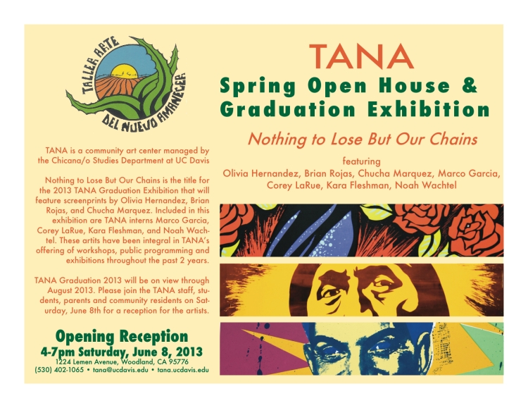 TANA Graduation Exhibition Flyer 2013 (1)
