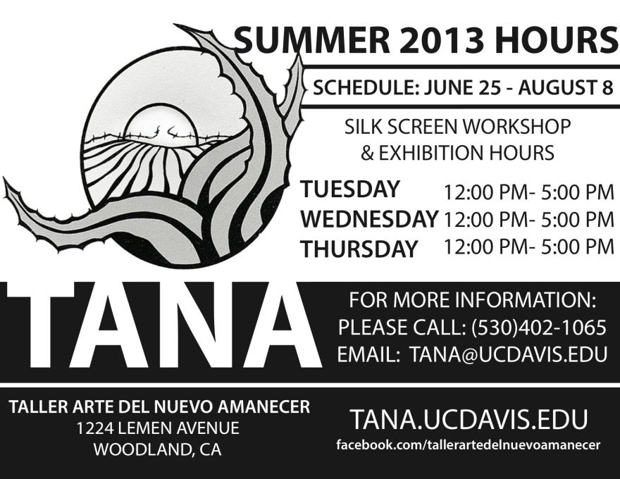 TANASUMMER2013Schedule